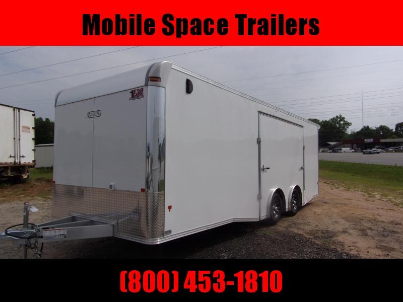 8.5x24 aluminum spread axle ramp Elite Ecsape door Enclosed Cargo Trailer