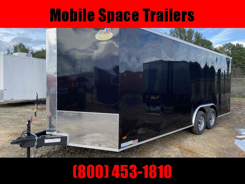 8.5X20 Black Ramp Door Car Hauler