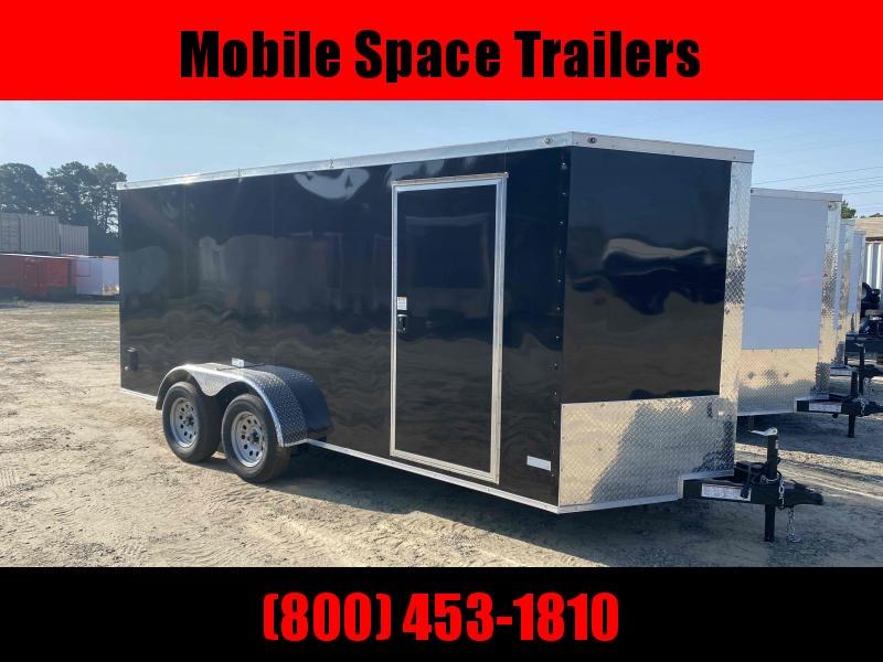 "Trailer 7x16 6'3"" black W/ Ramp Door Enclosed Cargo screwlessTrailer"