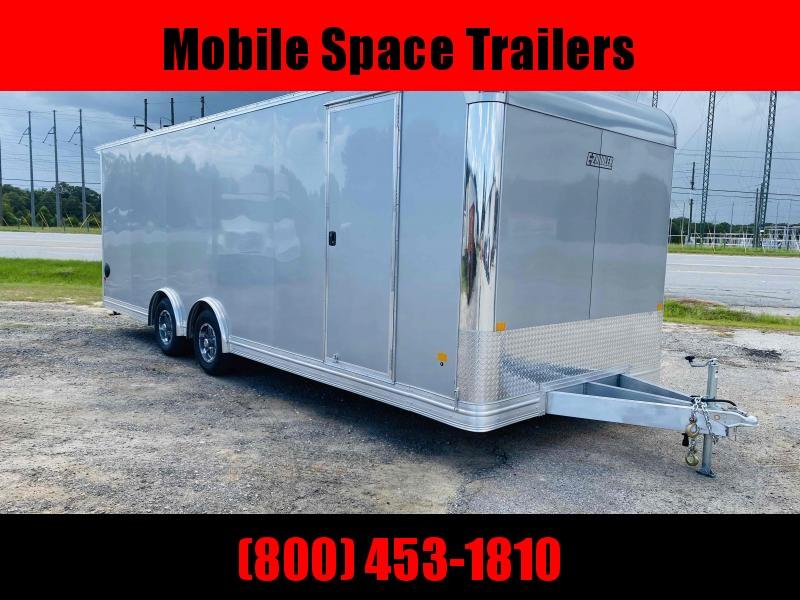 Aluminum 8.5x24 Tandem Axle Silver Enclosed Car hauler / Racing Trailer