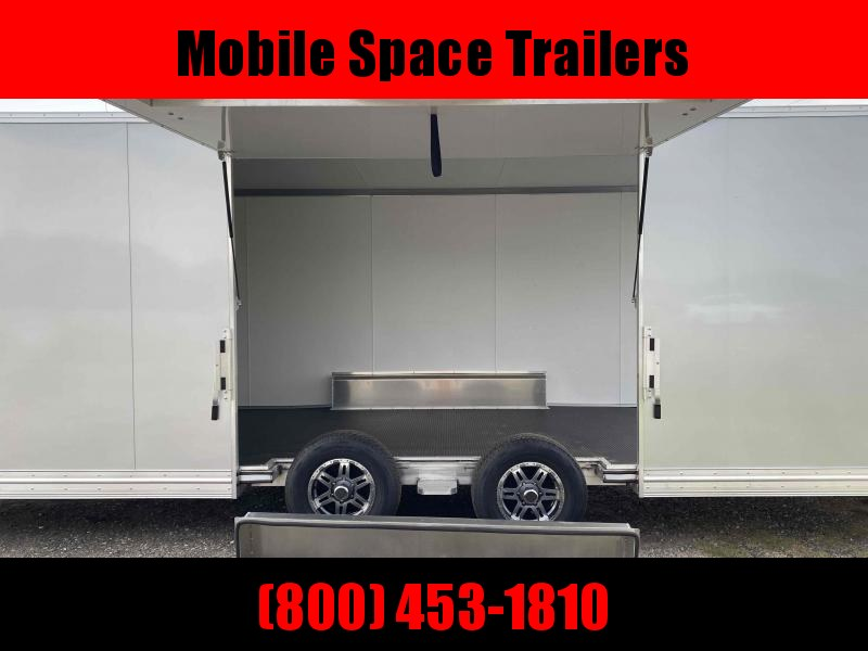Aluminum 8.5x24 Tandem Axle Silver Enclosed Car hauler / Racing Trailer