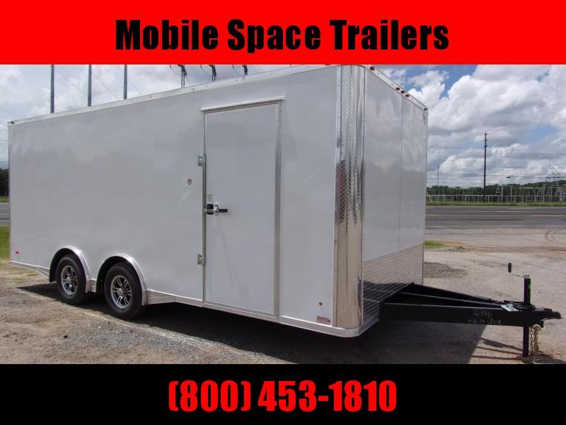 Liberty 8.5X20 White 10K Semi-Screwless Carhauler Enclosed Cargo Trailer