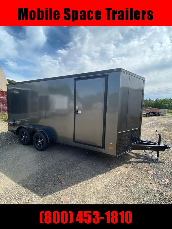 2020 Covered Wagon Trailers 7X16 Charcoal Blackout 7' Interior Enclosed Cargo Trailer