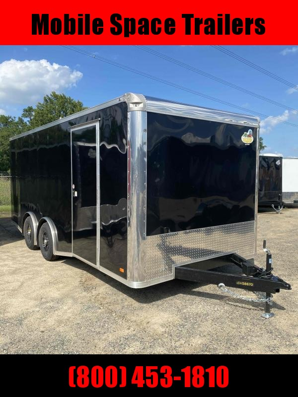 2020 Covered Wagon Trailer 8.5X20 Black Spread Axle Car Hauler