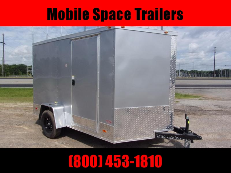 2 bike motorcycle trailer 7x10 MCP ramp door Silver Enclosed Cargo