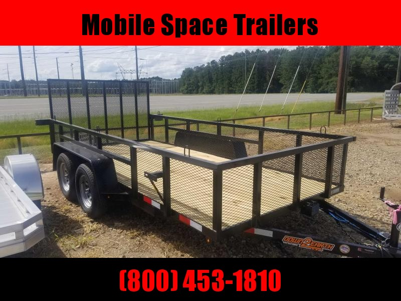 Down 2 Earth Trailers 82x14TA Utility Trailer w/ 2' Expanded Metal Sides