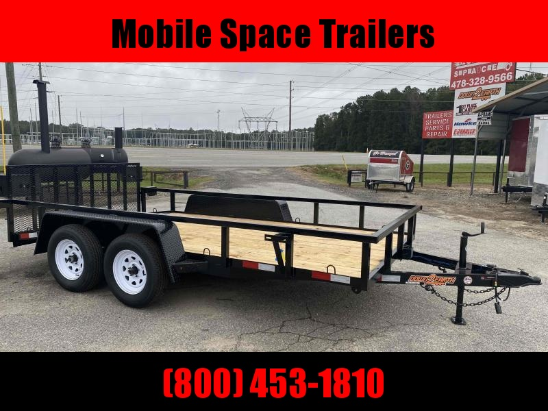 Down 2 Earth Trailers 76X14 Tandem Axle Dovetail Utility Trailer