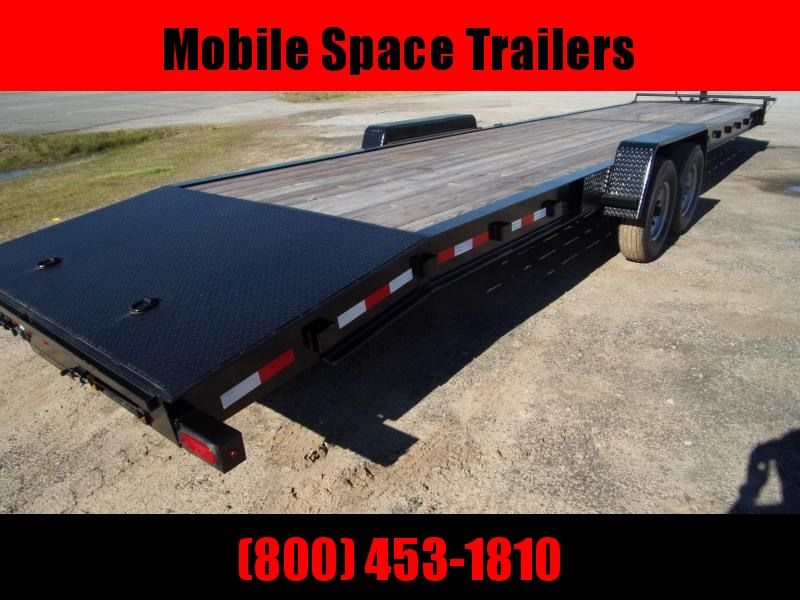 "Down 2 Earth Trailers 34 2 Car Hauler wood deck 10"" I beam"