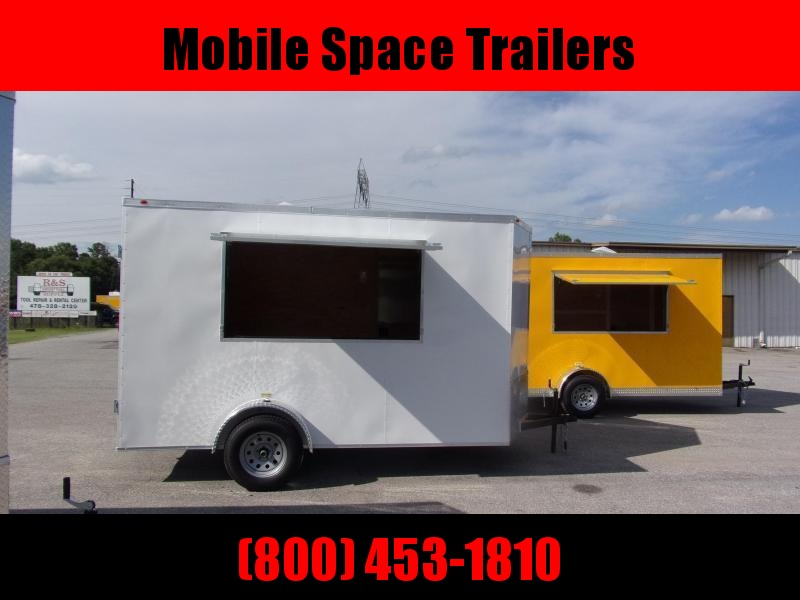 EagleCargo Trailers 6x12 7' 3x6 Window Blue Enclosed Cargo Concesion