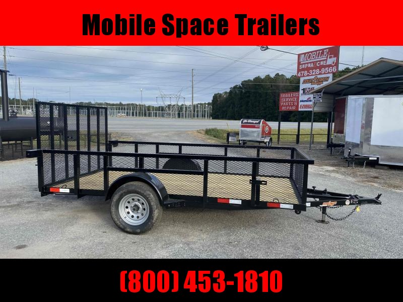 "Down 2 Earth Trailers 76x12ut Wood Deck 24"" Mesh Side Utility Trailer"