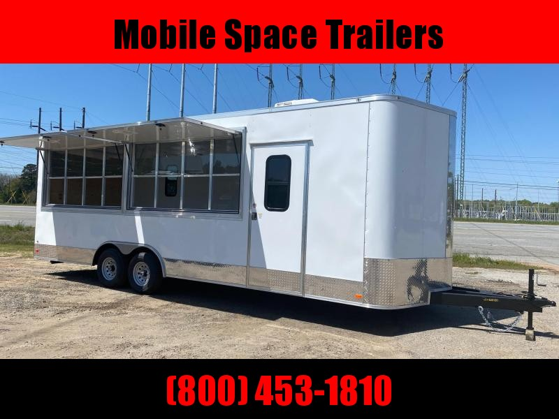 Covered Wagon concession Trailers 8.5X24 8' Interior Electric pkg A/C VendingTrailer