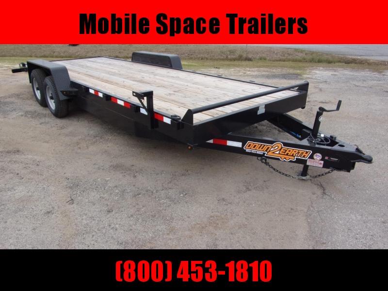 Down 2 Earth Trailers 82x20 7k Car Hauler equipment trailer