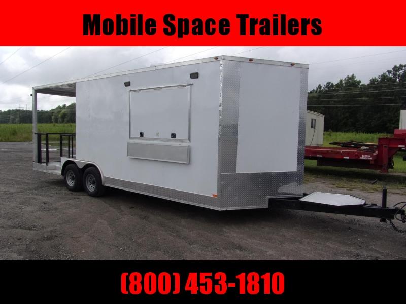 Empire 8.5x22 Concession 14' box 8' Porch Vending / cargo Trailer