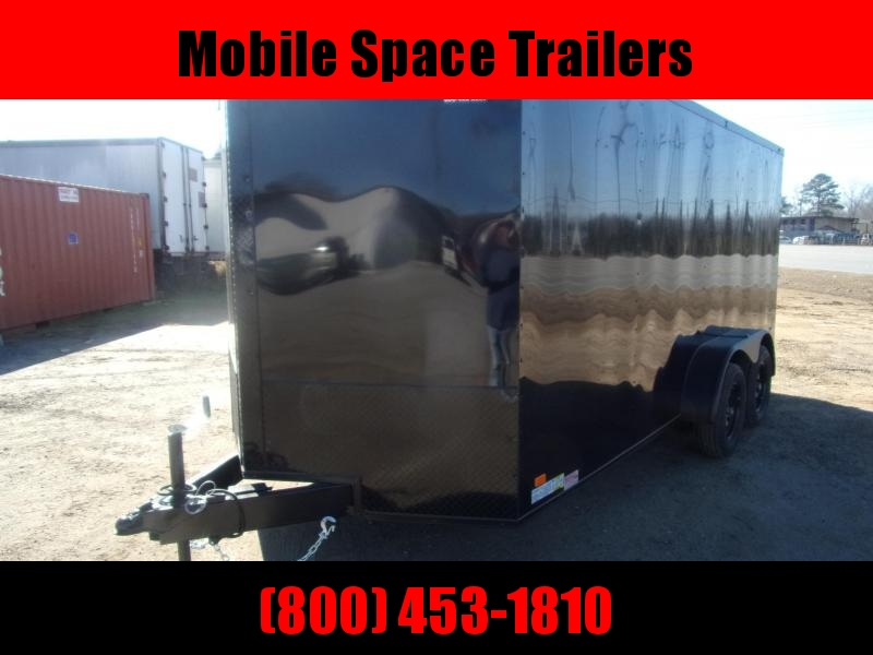 Trailer 7x16 6 3 bk bkout W Ramp Door Enclosed Cargo screwlessTrailer