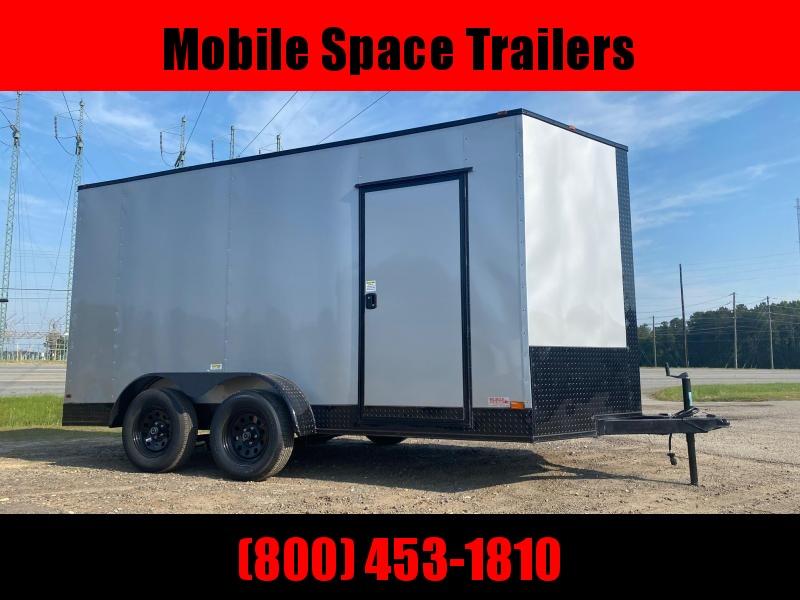 7X14 7k Silver Blackout Tandem Ramp Door Enclosed Cargo Trailer
