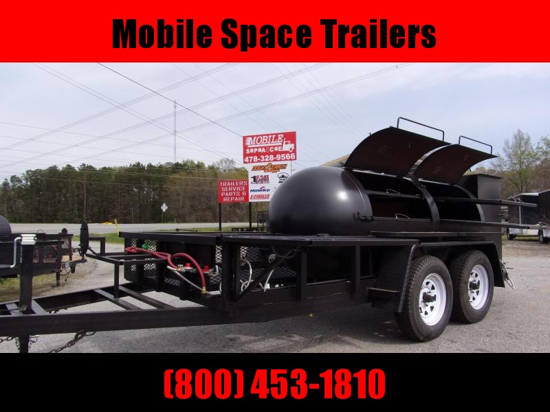 2020 Bubba Grills  500R612 TA Reverse Flow Smoker Vending / Concession Trailer