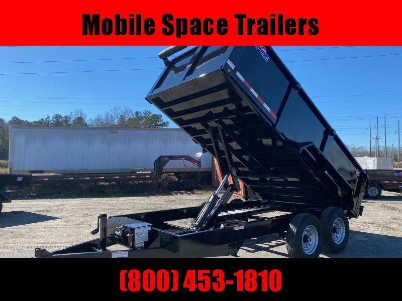 """Hawke 7x14 36"""" High side 12k Low Pro Dump Trailer w Tarp"""