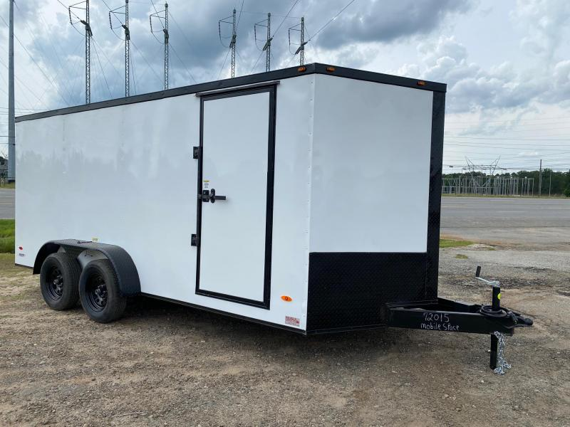 7x16 Blackout ramp door Enclosed Cargo Trailer