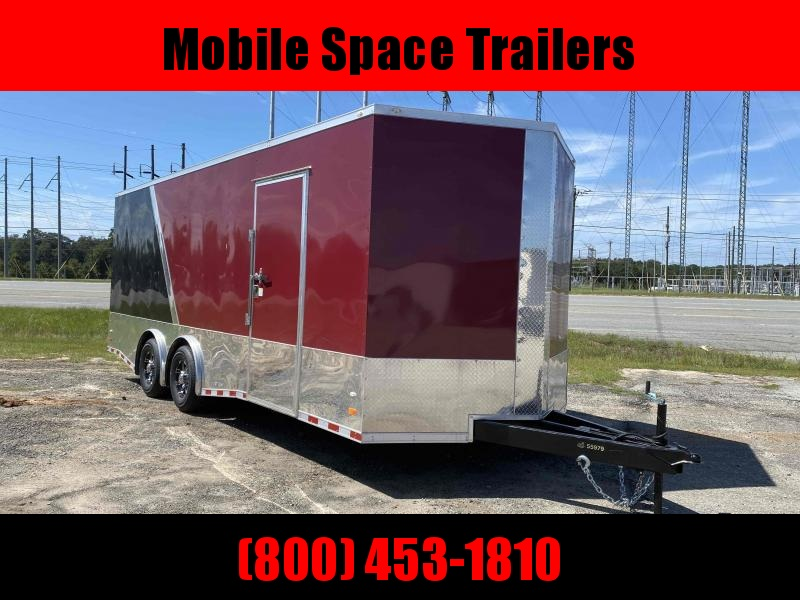 "Covered Wagon Trailers 8.5X22 14K Black & Brandy 7' 6"" Interior Enclosed Cargo Trailer"