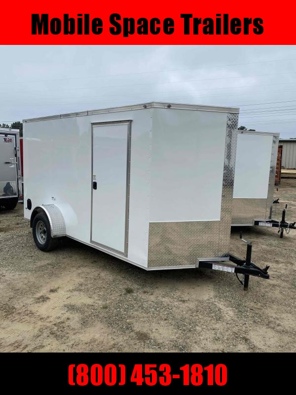 2020 NationCraft Trailers 6x12 Ramp door WHITE Enclosed Cargo Trailer