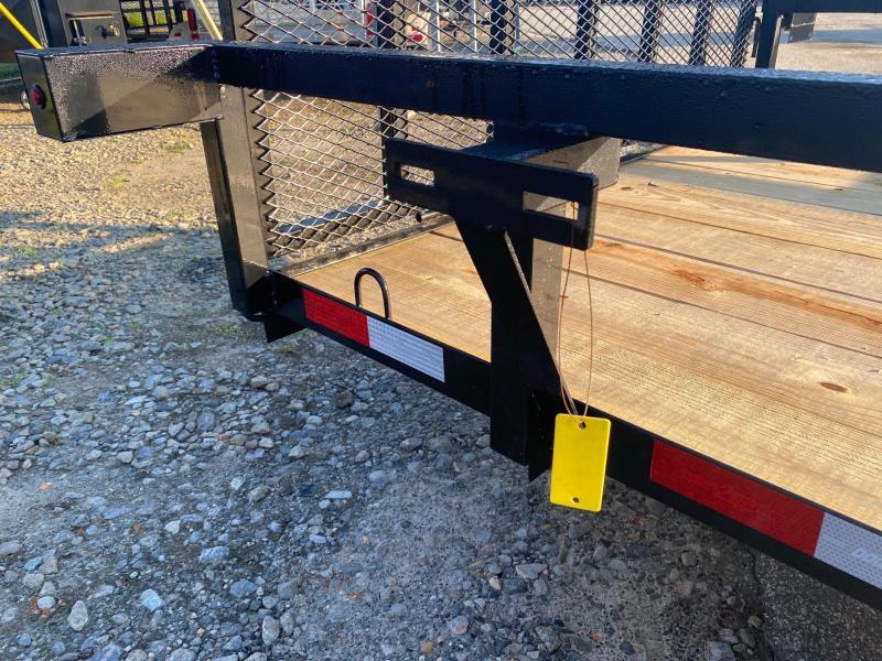 Down 2 Earth Trailers 76x14ut Wood Flat Deck w/ Side Ramps Utility Trailer