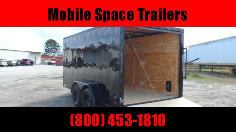 Covered Wagon Trailers 7x16 Blackout ramp door Enclosed Cargo Trailer