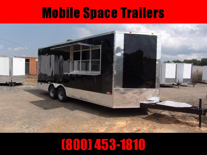 8.5x20 enclosed cargo 3x6 glass and sceen 3 Bay Sink Concession Vending Concession Trailer