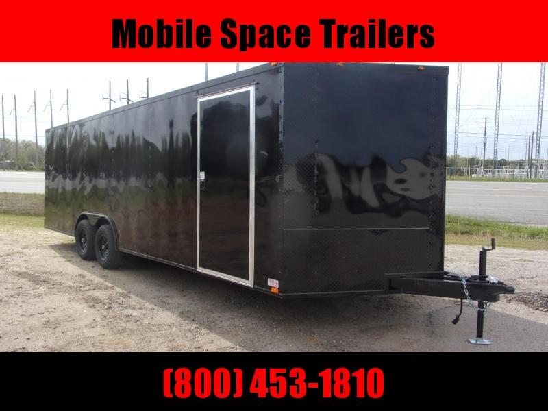 8.5X24 Black 7K Blackout Semi-Screwless Carhauler Enclosed Cargo Trailer