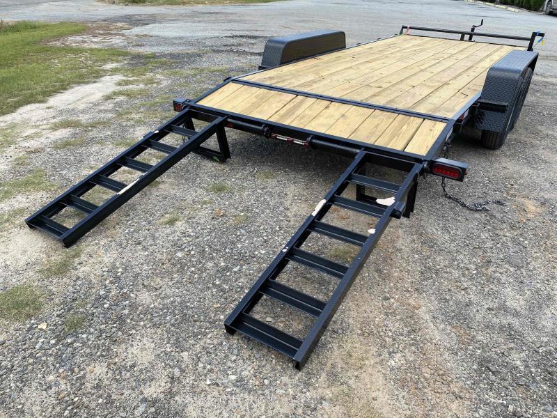 Down 2 Earth Trailers 82x18 14k Wood Deck Equipment Trailer