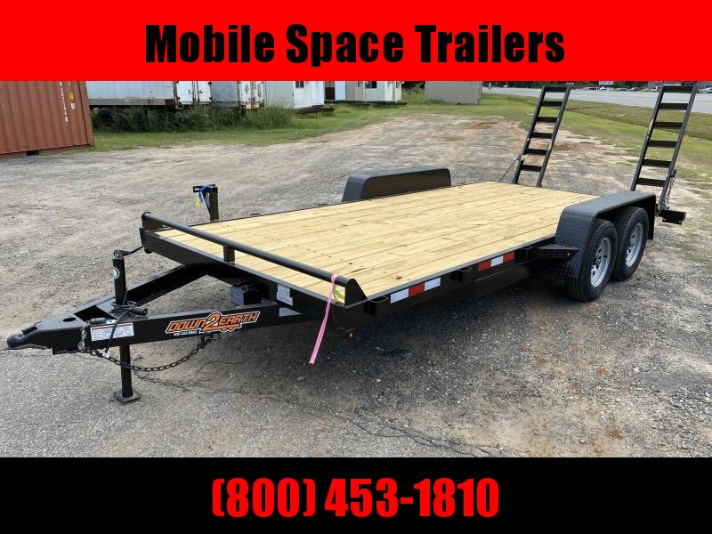 Down 2 Earth Trailers 82x18 14k Wood Deck Equipment Trailer