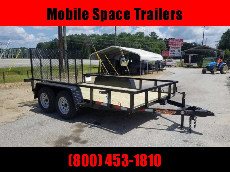 Down 2 Earth Trailers 76x12TA Utility Trailer Tube rail