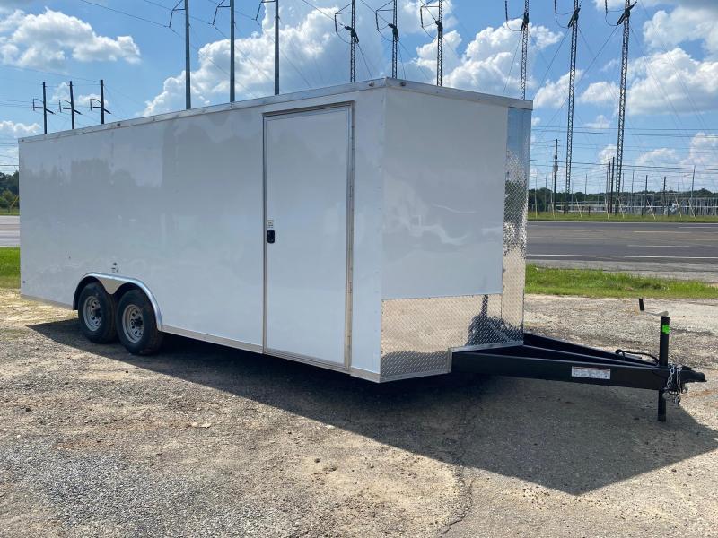 8.5X20 10K White Screwless Carhauler Enclosed Cargo Trailer