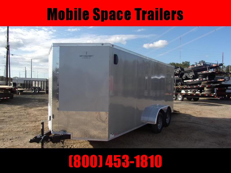 Trailer 7x16 6 3 silver W Ramp Door Enclosed Cargo screwlessTrailer