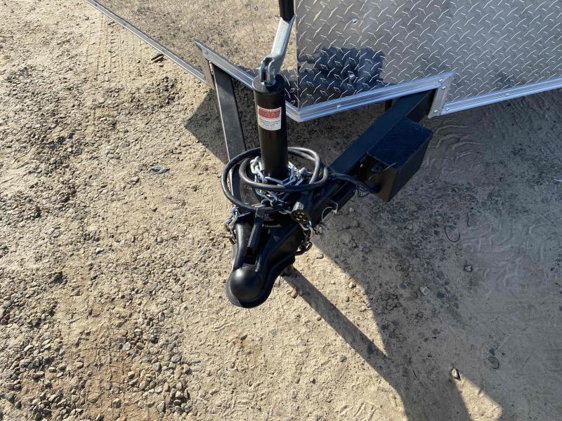 Trailer 7x16 6 3 black W Ramp Door Enclosed Cargo screwlessTrailer
