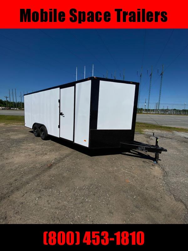 2020 Liberty 8.5X20 White 10K Blackout Semi-Screwless Carhauler Enclosed Cargo Trailer
