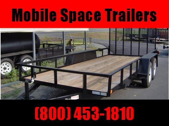 Down 2 Earth Trailers 82x16TA Utility Trailer Tube Rails