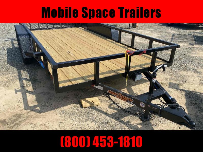 Down 2 Earth Trailers 82x16TA Utility Trailer Tube Rails