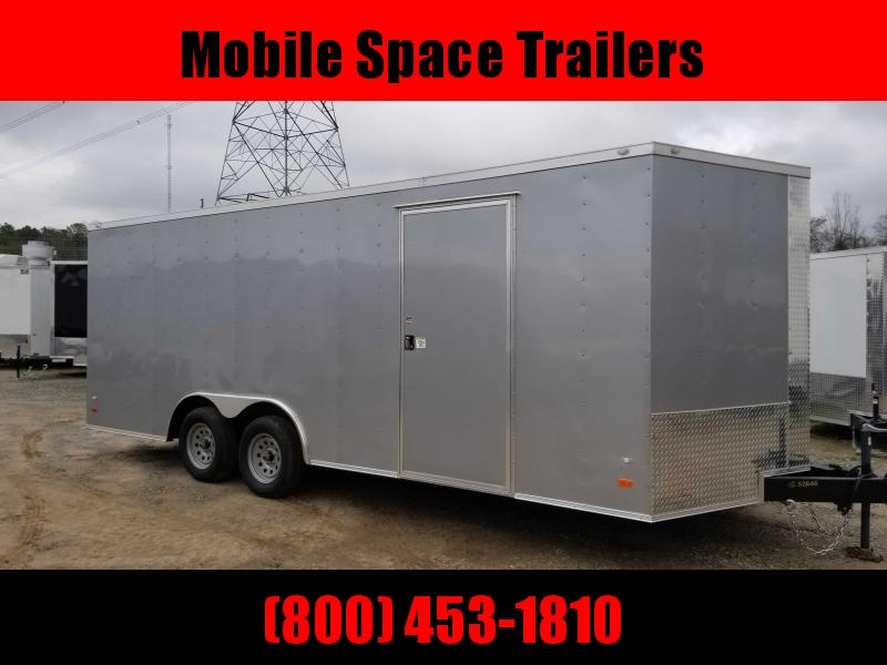 Covered Wagon Trailers 8.5X20 silv Car Hauler Enclosed Cargo Trailer