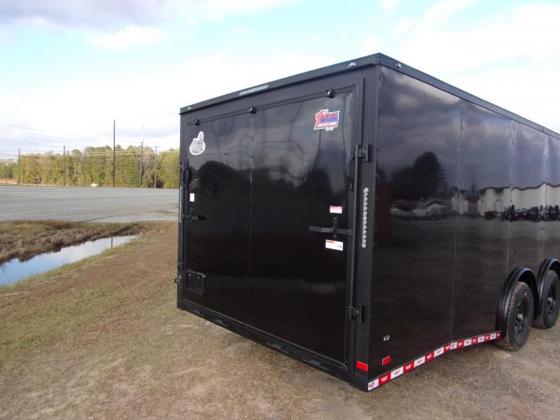 8.5x28 Black Spread axles ramp door Enclosed Cargo14k GVWR