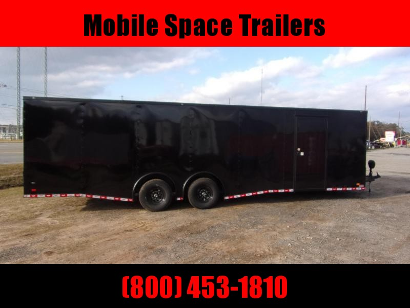 8.5x28 Black Spread axles ramp door Enclosed Cargo14k GVWR
