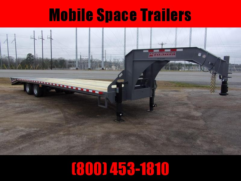 2020 Midsota 102x32 Gooseneck Equipment W HD Ramps Flatbed Trailer