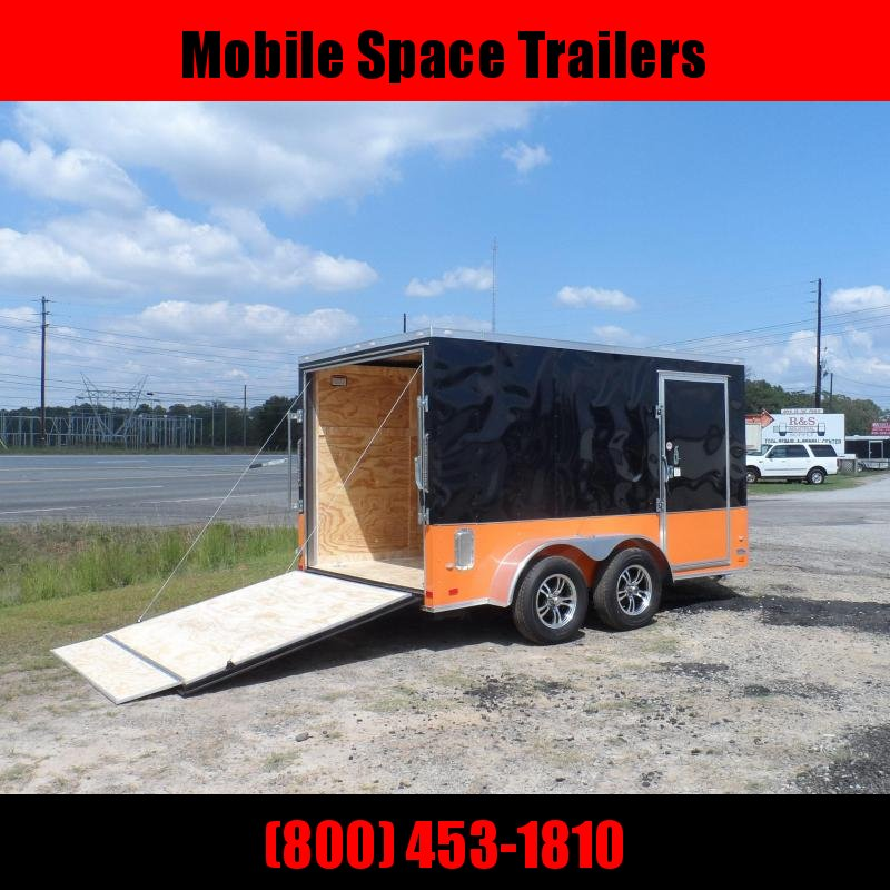 7x12 MCP Bk & Or ramp door Enclosed Cargo motorcycle bike Trailer with ramp