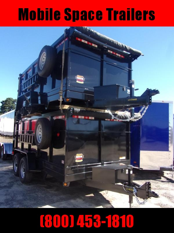 2021 Covered Wagon Trailers 7X14 4' Sides 14k w/ Tarp & Spare Dump Trailer