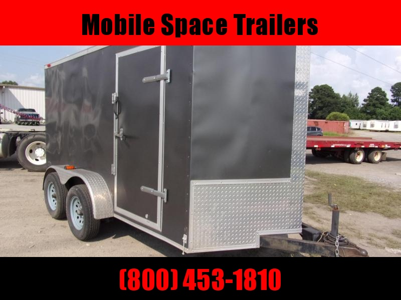 2011 Eagle Cargo Used 6x12 Charcoal Tandem Axle Enclosed Cargo Trailer