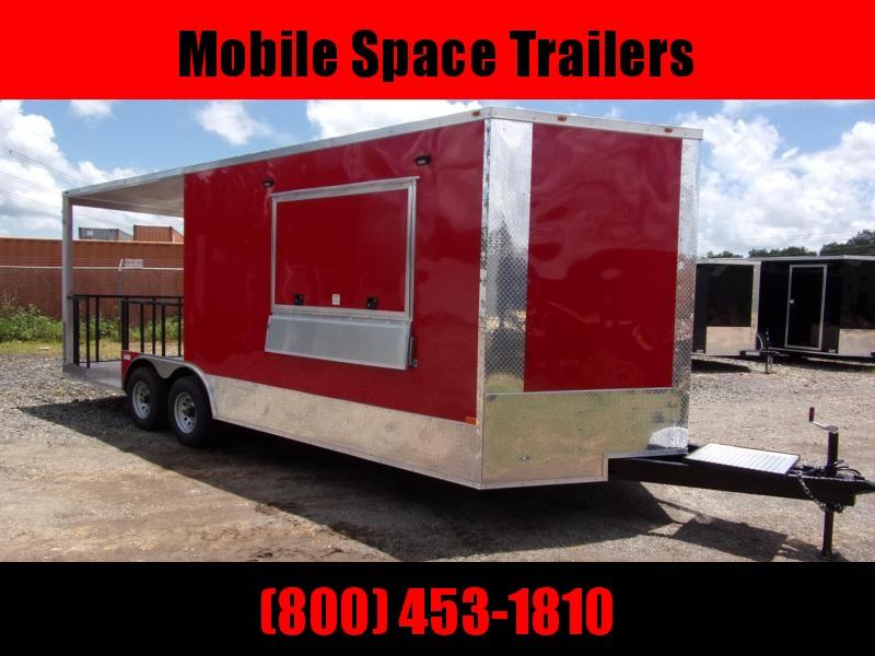 Empire 8.5x22 Concession 12' box 10' Porch Vending / cargo Trailer
