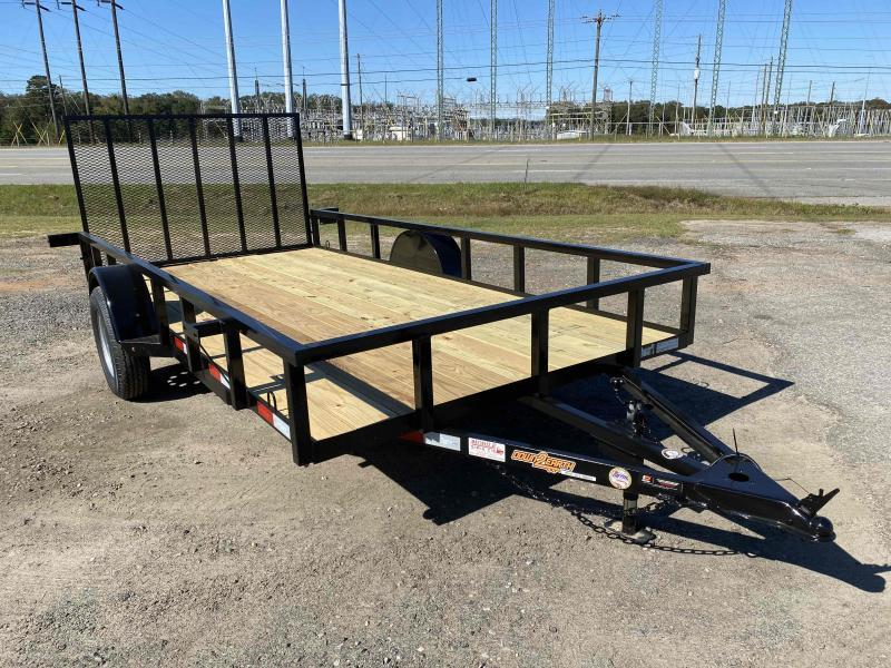 Down 2 Earth Trailers 76x14ut Wood Flat Deck Utility Trailer