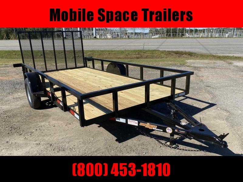 Down 2 Earth Trailers 82x14ut Wood Flat Deck Utility Trailer