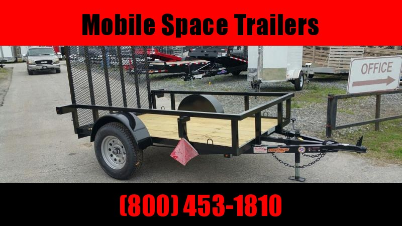 Down 2 Earth Trailers 5x8ut Utility Trailer Tube Rails