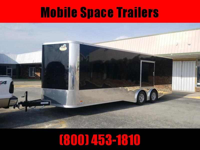 Covered Wagon Trailers 8.5x24 MCP Black Spread axles ramp door Enclosed Cargo