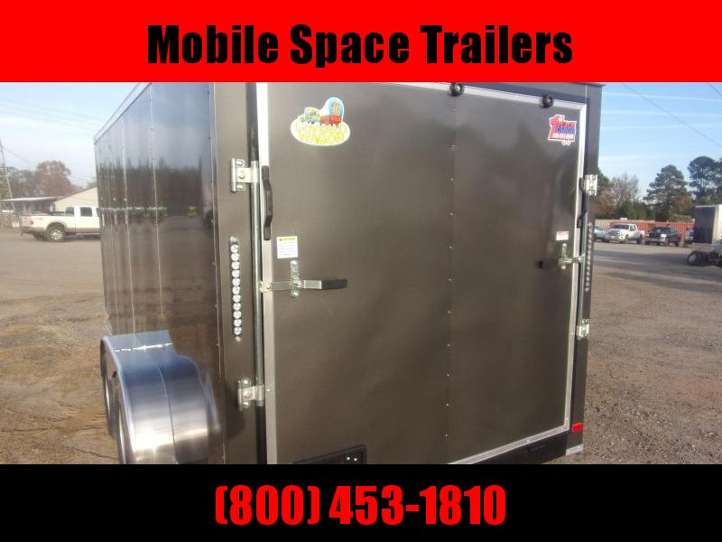 Trailer 7x16 6'3 Char Coal W Ramp Door Enclosed Cargo screwlessTrailer